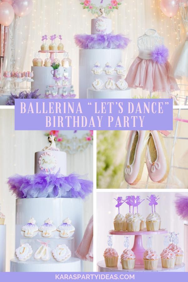 "Ballerina ""Let's Dance"" Birthday Party via Kara's Party Ideas - KarasPartyIdeas.com"