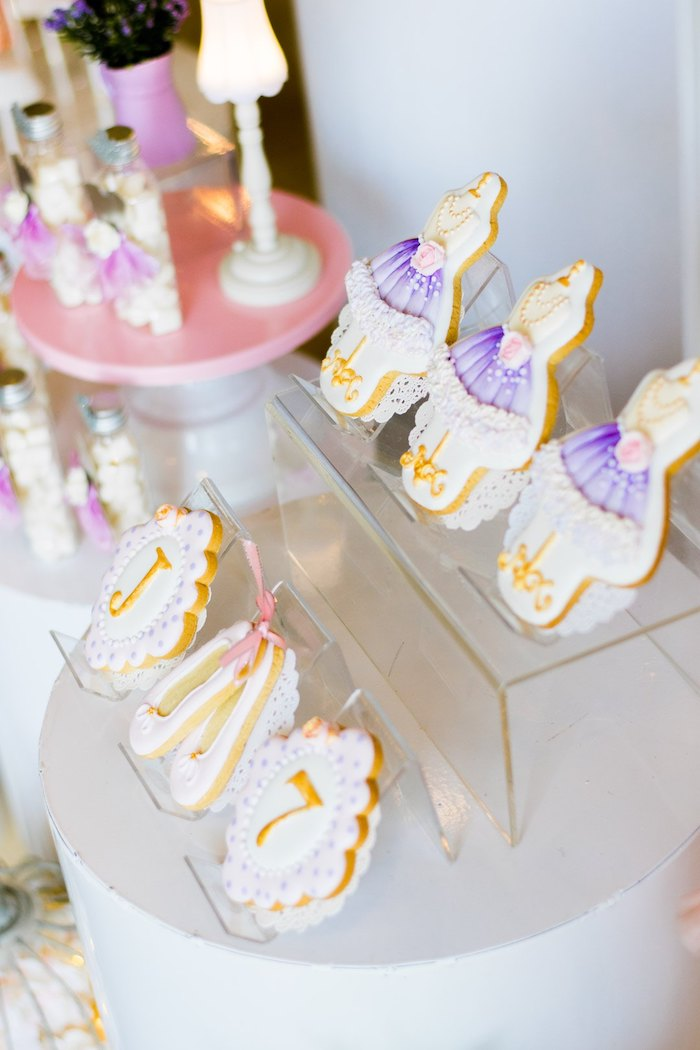 "Ballet Themed Sugar Cookies from a Ballerina ""Let's Dance"" Birthday Party on Kara's Party Ideas | KarasPartyIdeas.com (6)"