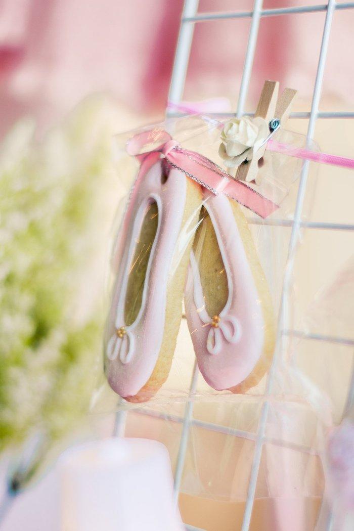 "Ballet Slipper Cookie from a Ballerina ""Let's Dance"" Birthday Party on Kara's Party Ideas | KarasPartyIdeas.com (22)"