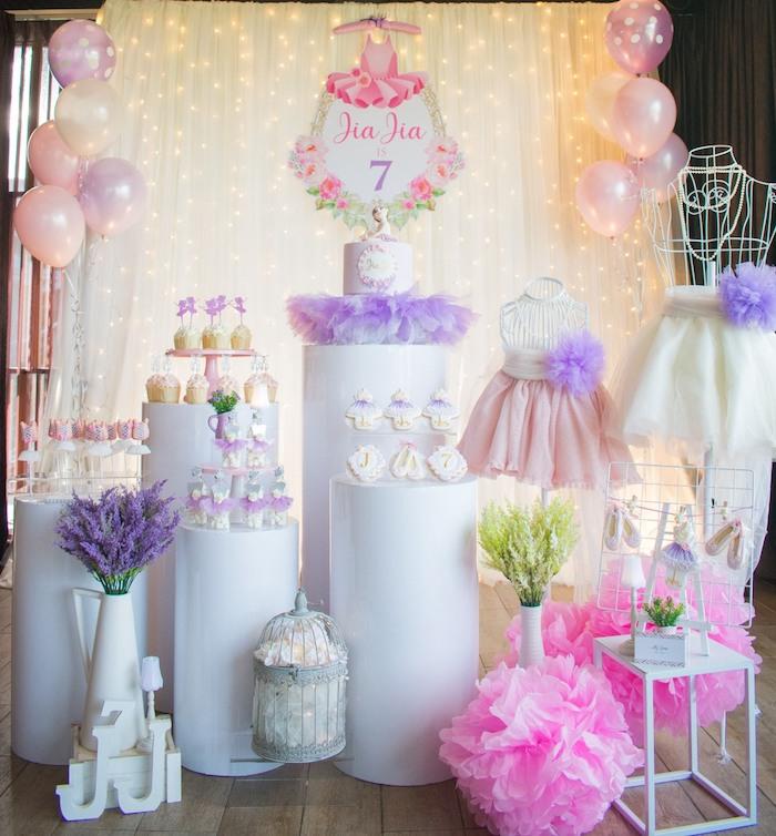 "Ballerina ""Let's Dance"" Birthday Party on Kara's Party Ideas | KarasPartyIdeas.com (21)"