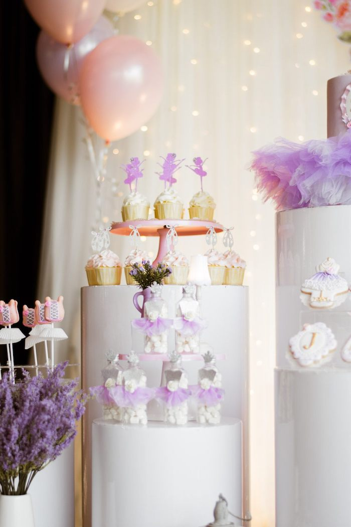 """Ballet Themed Sweets from a Ballerina """"Let's Dance"""" Birthday Party on Kara's Party Ideas 