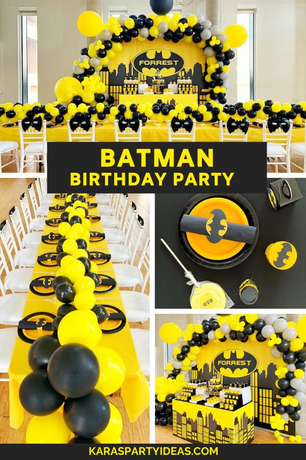 Batman Birthday Party via Kara's Party Ideas - KarasPartyIdeas.com