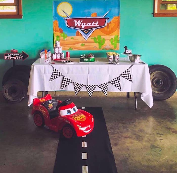 Cars Themed Dessert Table from a DIY Radiator Springs Cars Birthday Party on Kara's Party Ideas | KarasPartyIdeas.com (4)