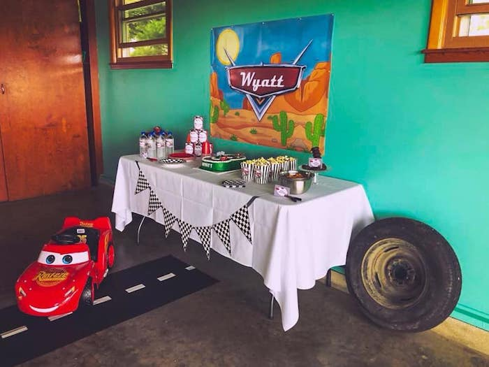 Cars Themed Dessert Table from a DIY Radiator Springs Cars Birthday Party on Kara's Party Ideas | KarasPartyIdeas.com (11)