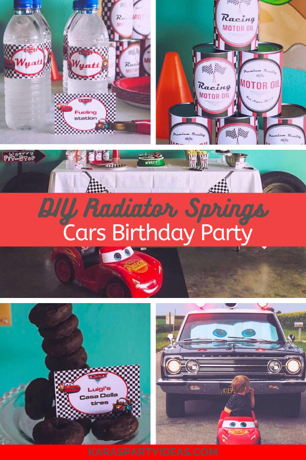 DIY Radiator Springs Cars Birthday Party via Kara's Party Ideas - KarasPartyIdeas.com