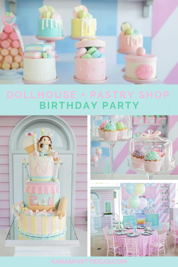 Dollhouse + Pastry Shop Birthday Party Birthday Party via Kara's Party Ideas - KarasPartyIdeas.com