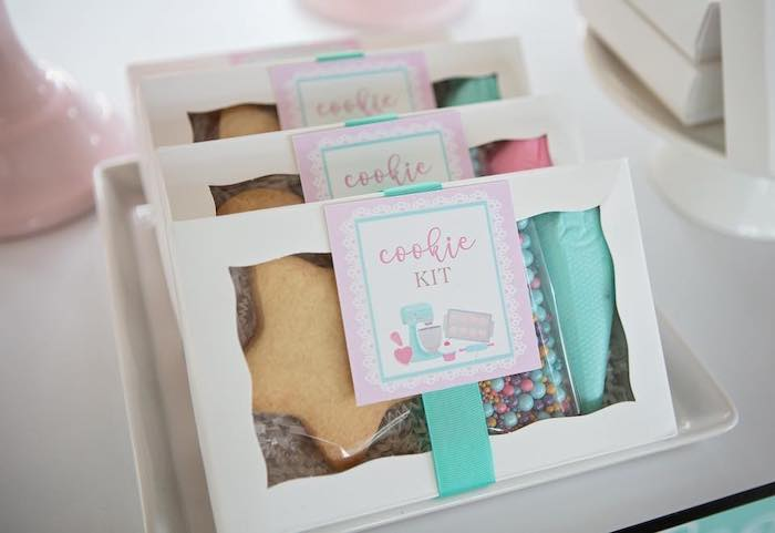 Cookie Kit from a Dollhouse + Pastry Shop Birthday Party on Kara's Party Ideas | KarasPartyIdeas.com (22)