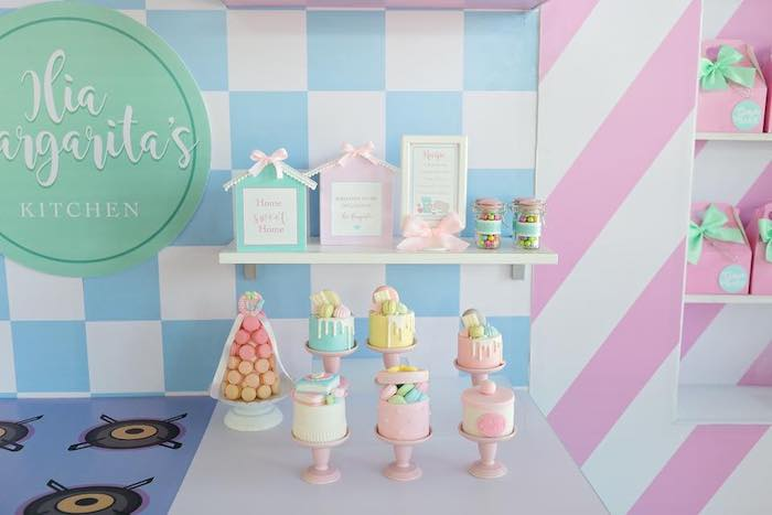 Sweet + Dessert Display from a Dollhouse + Pastry Shop Birthday Party on Kara's Party Ideas | KarasPartyIdeas.com (21)