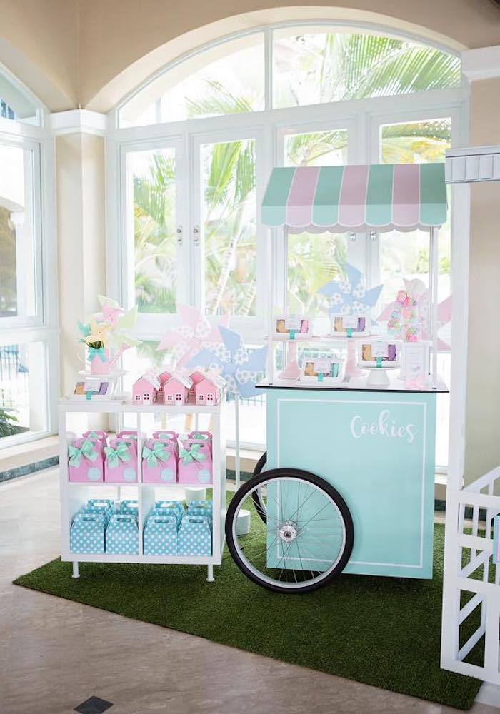 Cookie Cart + Favors from a Dollhouse + Pastry Shop Birthday Party on Kara's Party Ideas | KarasPartyIdeas.com (36)
