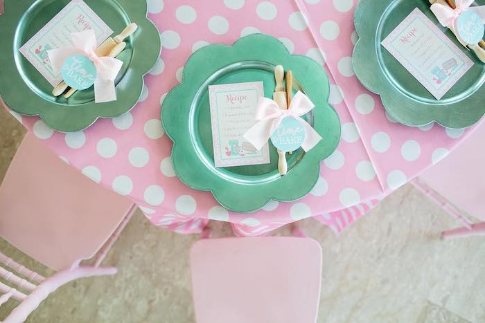 Baking-inspired Table Setting from a Dollhouse + Pastry Shop Birthday Party on Kara's Party Ideas | KarasPartyIdeas.com (17)