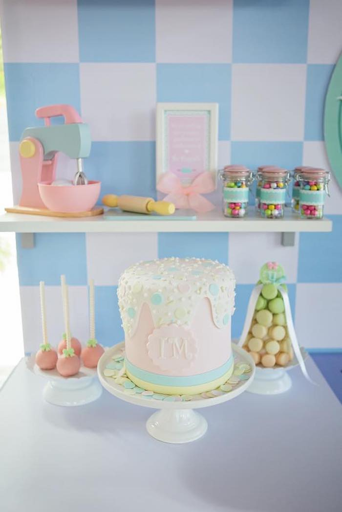 Pastry Shop-inspired Cake + Sweet Display from a Dollhouse + Pastry Shop Birthday Party on Kara's Party Ideas | KarasPartyIdeas.com (29)