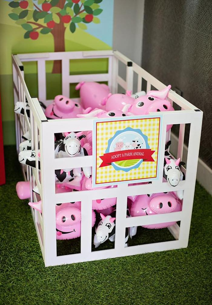 Farm Animal Adoption from a Farm Birthday Party on Kara's Party Ideas | KarasPartyIdeas.com (15)