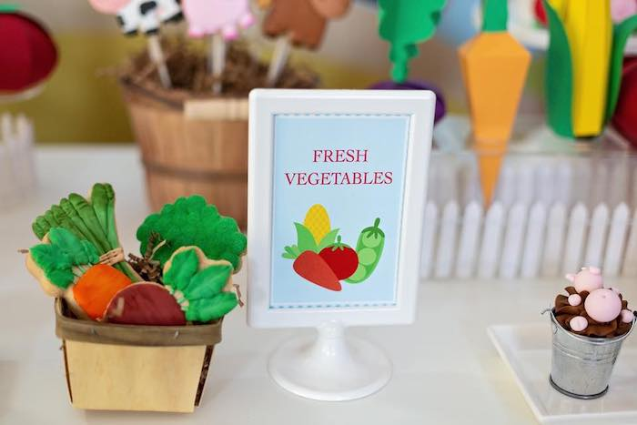 Fresh Vegetable Print from a Farm Birthday Party on Kara's Party Ideas | KarasPartyIdeas.com (14)