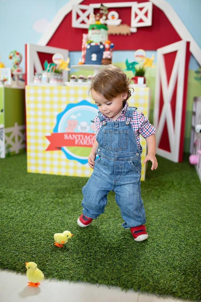 Little Farmer from a Farm Birthday Party on Kara's Party Ideas | KarasPartyIdeas.com (10)