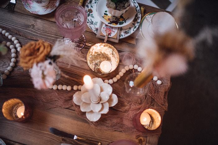 Guest Table Decor from a Floral High Tea Baby Shower on Kara's Party Ideas | KarasPartyIdeas.com (29)