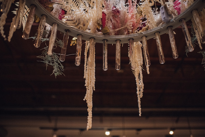 Boho Floral Chandelier from a Floral High Tea Baby Shower on Kara's Party Ideas | KarasPartyIdeas.com (25)