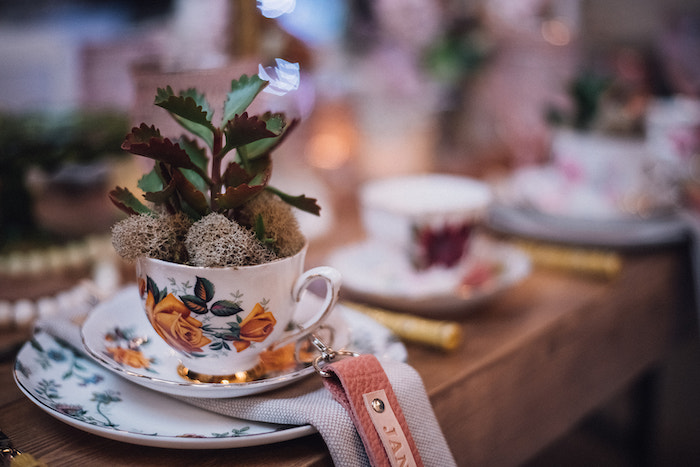 Tea Cup Plant from a Floral High Tea Baby Shower on Kara's Party Ideas | KarasPartyIdeas.com (15)