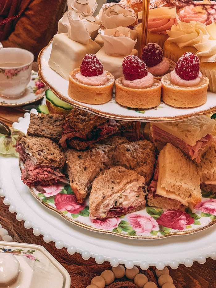 Sweets and Sandwiches from a Floral High Tea Baby Shower on Kara's Party Ideas | KarasPartyIdeas.com (38)