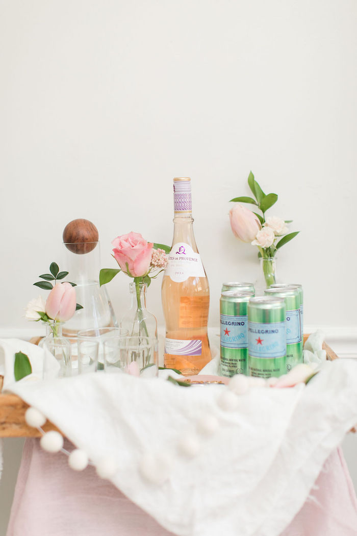 Drink Bar from a Galentine's Day Gathering Party on Kara's Party Ideas | KarasPartyIdeas.com (23)