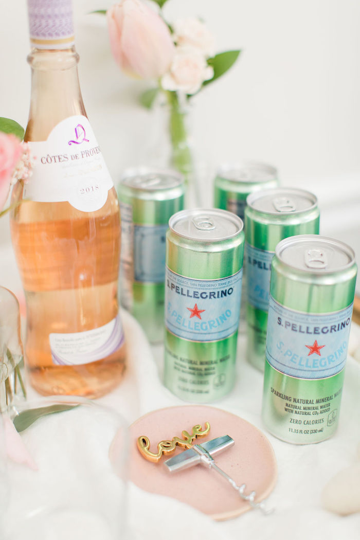 Drinks from a Galentine's Day Gathering Party on Kara's Party Ideas | KarasPartyIdeas.com (22)