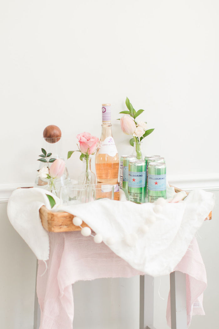 Drink Stand from a Galentine's Day Gathering Party on Kara's Party Ideas | KarasPartyIdeas.com (21)