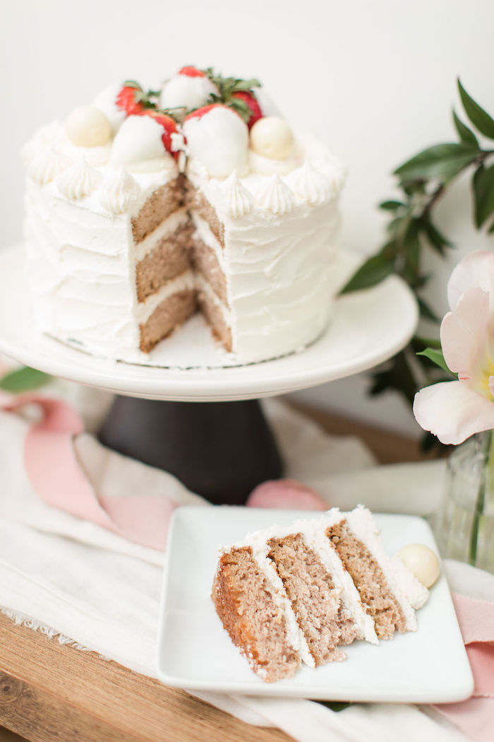 Cake from a Galentine's Day Gathering Party on Kara's Party Ideas | KarasPartyIdeas.com (20)