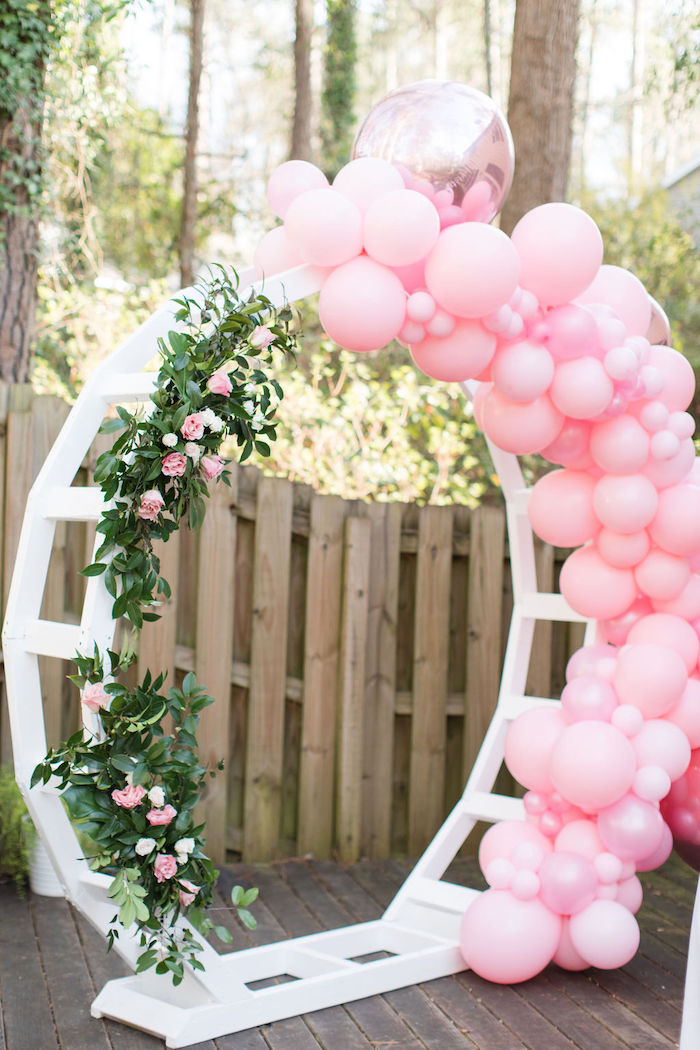 White Wooden Arch from a Galentine's Day Gathering Party on Kara's Party Ideas | KarasPartyIdeas.com (18)