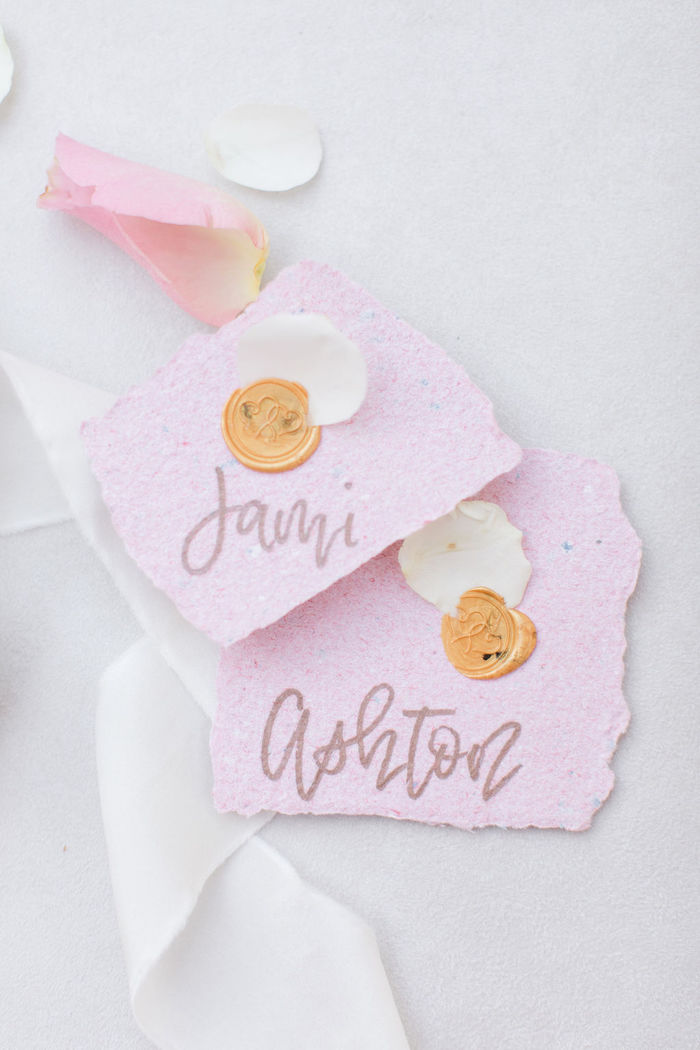 Dragon Paper Place Cards from a Galentine's Day Gathering Party on Kara's Party Ideas | KarasPartyIdeas.com (17)