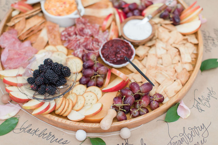 Charcuterie Board from a Galentine's Day Gathering Party on Kara's Party Ideas | KarasPartyIdeas.com (15)