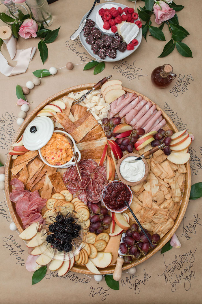 Charcuterie Board from a Galentine's Day Gathering Party on Kara's Party Ideas | KarasPartyIdeas.com (14)
