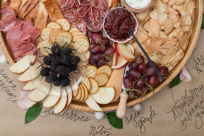 Charcuterie Board from a Galentine's Day Gathering Party on Kara's Party Ideas | KarasPartyIdeas.com (13)