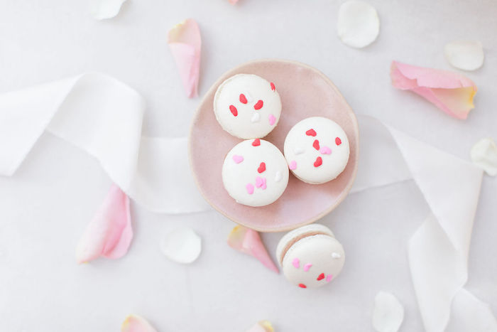 Valentine's Day Macarons from a Galentine's Day Gathering Party on Kara's Party Ideas | KarasPartyIdeas.com (33)