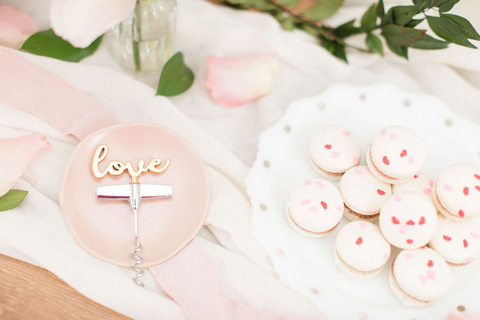 Valentine's Day Macarons from a Galentine's Day Gathering Party on Kara's Party Ideas | KarasPartyIdeas.com (32)