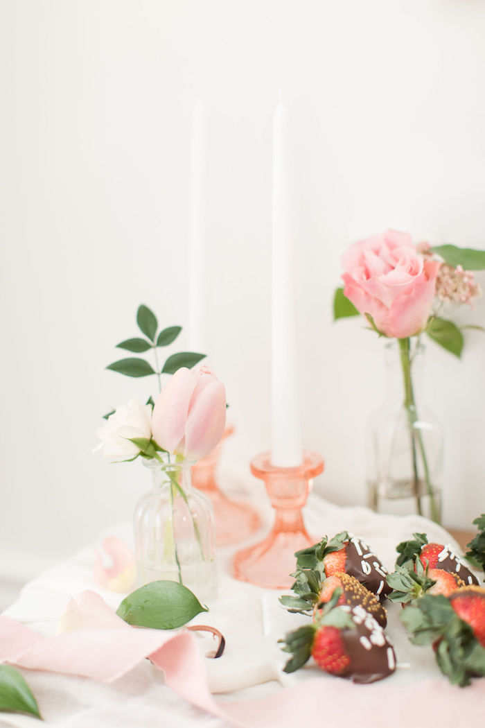 Roses and Chocolate Covered Strawberries from a Galentine's Day Gathering Party on Kara's Party Ideas | KarasPartyIdeas.com (31)
