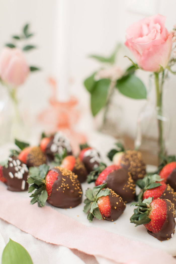 Chocolate Covered Strawberries from a Galentine's Day Gathering Party on Kara's Party Ideas | KarasPartyIdeas.com (30)