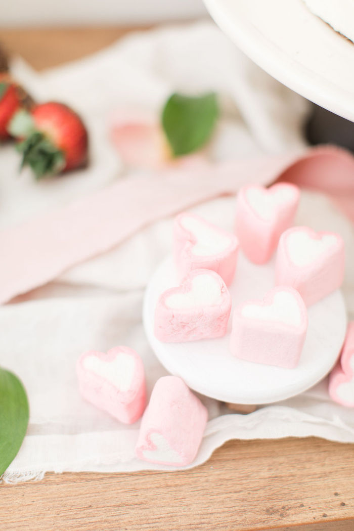 Heart Marshmallows from a Galentine's Day Gathering Party on Kara's Party Ideas | KarasPartyIdeas.com (29)