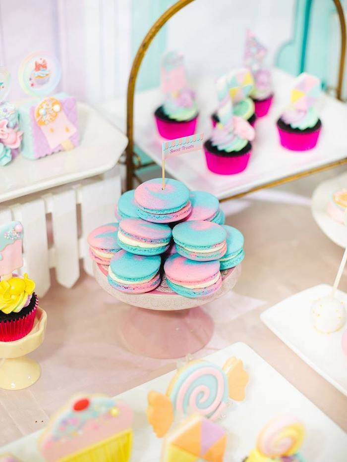 Macarons from a Geometric Candyland Birthday Party on Kara's Party Ideas | KarasPartyIdeas.com (20)