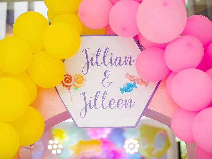 Balloon Arch from a Geometric Candyland Birthday Party on Kara's Party Ideas | KarasPartyIdeas.com (19)