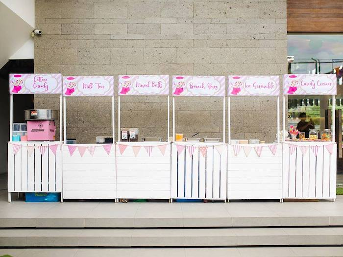 Food/Dessert Stands from a Geometric Candyland Birthday Party on Kara's Party Ideas | KarasPartyIdeas.com (16)