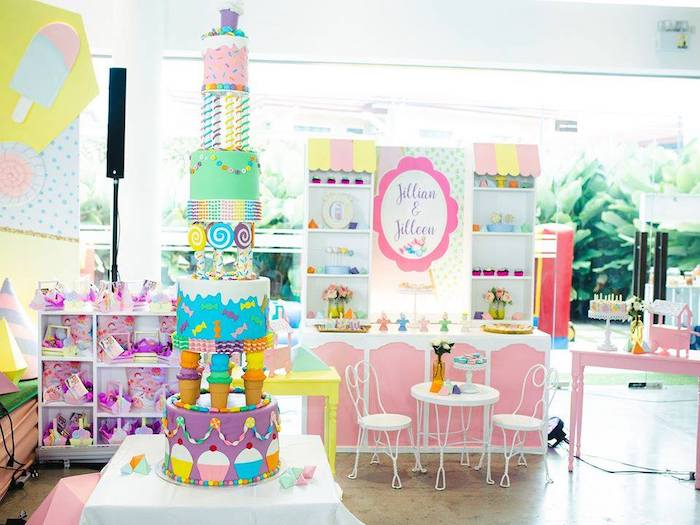 Geometric Candyland Birthday Party on Kara's Party Ideas | KarasPartyIdeas.com (31)