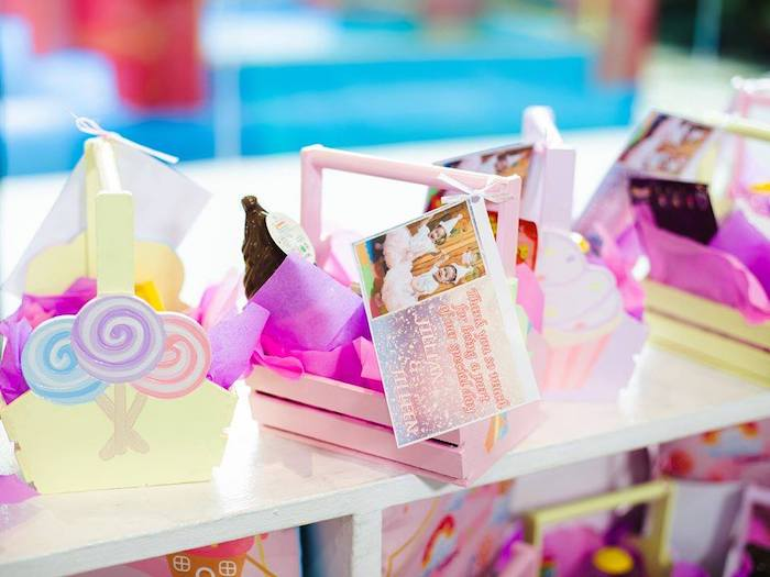 Favor Baskets from a Geometric Candyland Birthday Party on Kara's Party Ideas | KarasPartyIdeas.com (30)