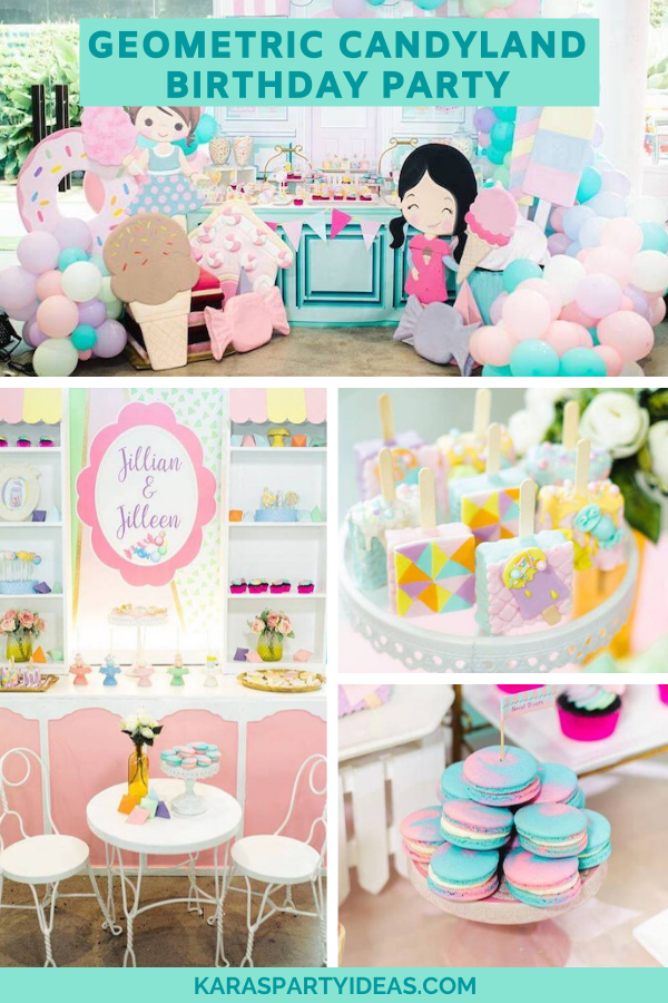 Geometric Candyland Birthday Party via Kara's Party Ideas - KarasPartyIdeas.com