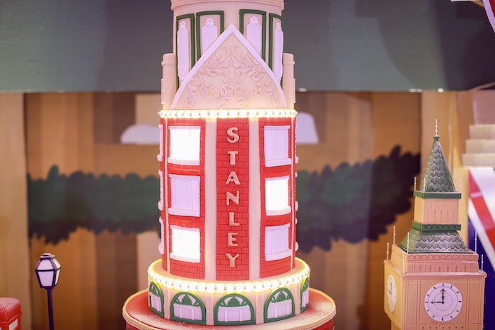 Stanley's Inspired Cake from a Harrods London Inspired Birthday Party on Kara's Party Ideas | KarasPartyIdeas.com (19)