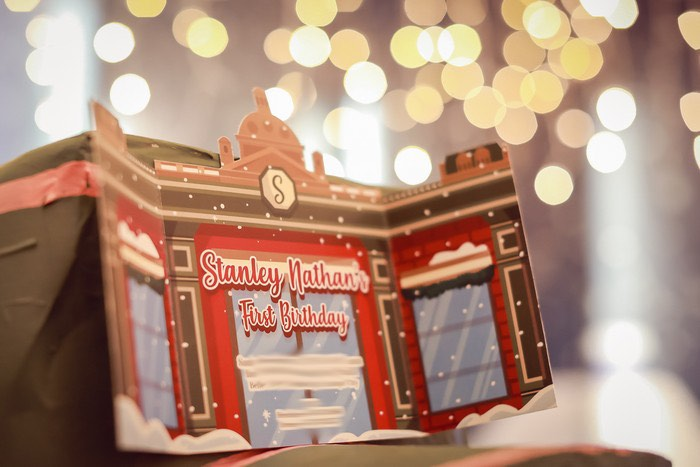 Storefront Party Invite from a Harrods London Inspired Birthday Party on Kara's Party Ideas   KarasPartyIdeas.com (31)