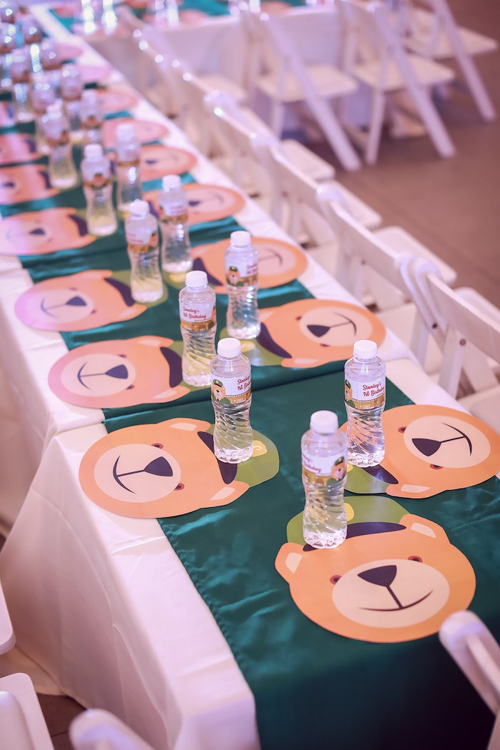 Bear-inspired Guest Table from a Harrods London Inspired Birthday Party on Kara's Party Ideas | KarasPartyIdeas.com (23)