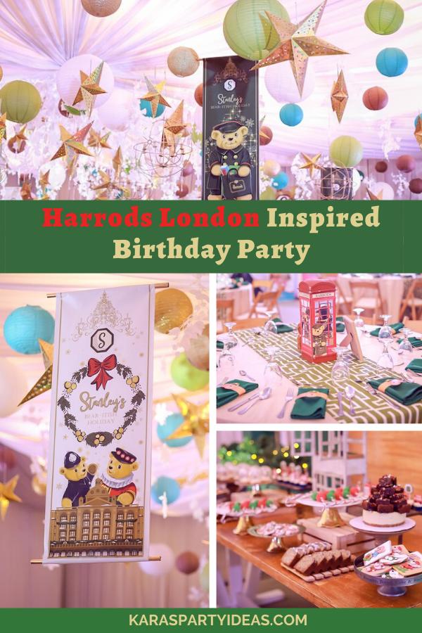 Harrods London Inspired Birthday Party via Kara's Party Ideas - KarasPartyIdeas.com
