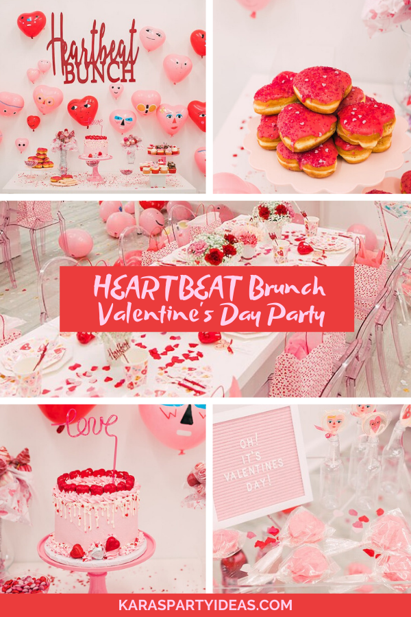 Heartbeat Brunch Valentine's Day Party via Kara's Party Ideas - KarasPartyIdeas.com