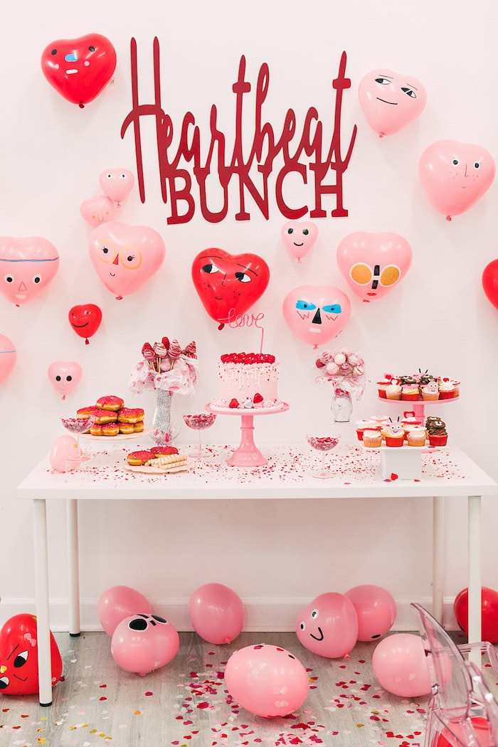 Heartbeat Brunch Valentine's Day Party on Kara's Party Ideas | KarasPartyIdeas.com (33)