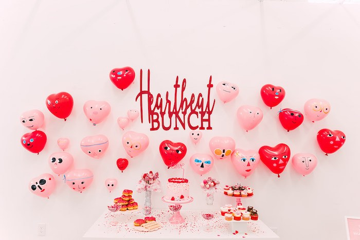 Heartbeat Brunch Table from a Heartbeat Brunch Valentine's Day Party on Kara's Party Ideas | KarasPartyIdeas.com (23)