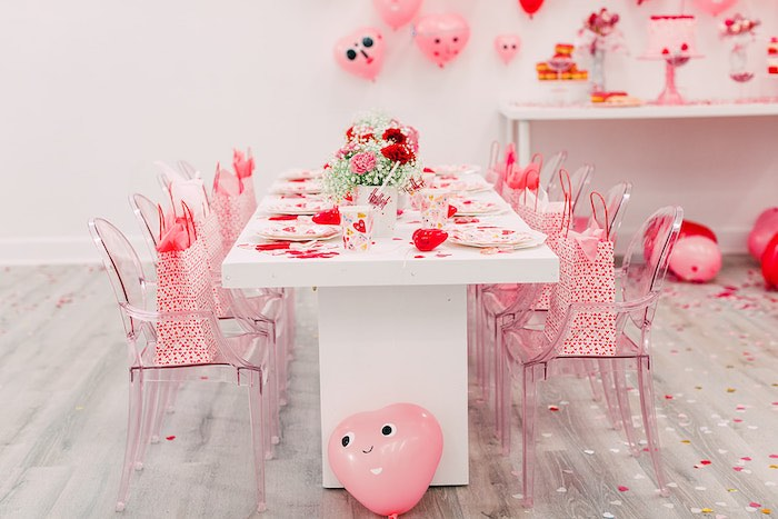Valentine's Day Brunch Table from a Heartbeat Brunch Valentine's Day Party on Kara's Party Ideas | KarasPartyIdeas.com (22)